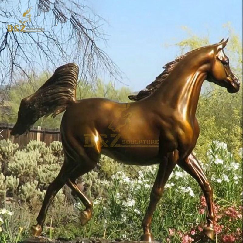 Horse sculpture China Manufactory Customized Cast Brass Home Decoration Art Sculpture