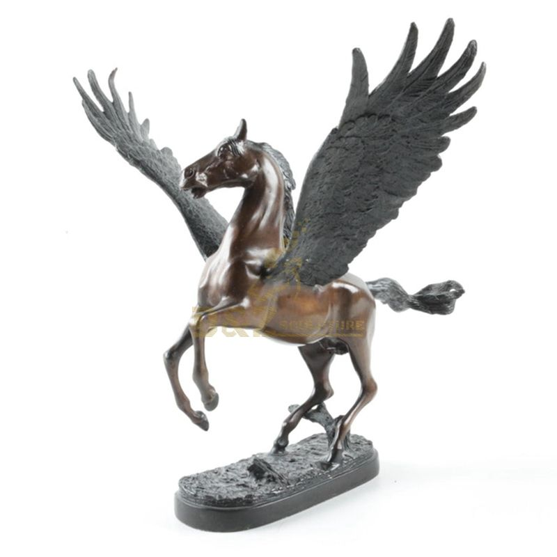 Large Outdoor Copper Bronze Pegasus Flying Horse Statue Sculpture For Garden City Decoration