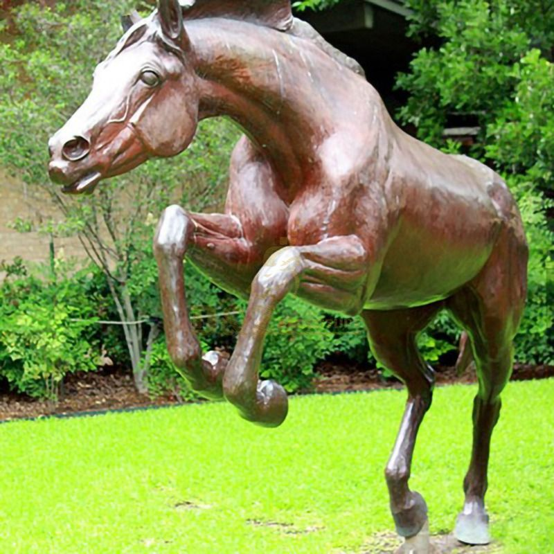 Antique Outdoor Bronze Horse Statue Sculpture