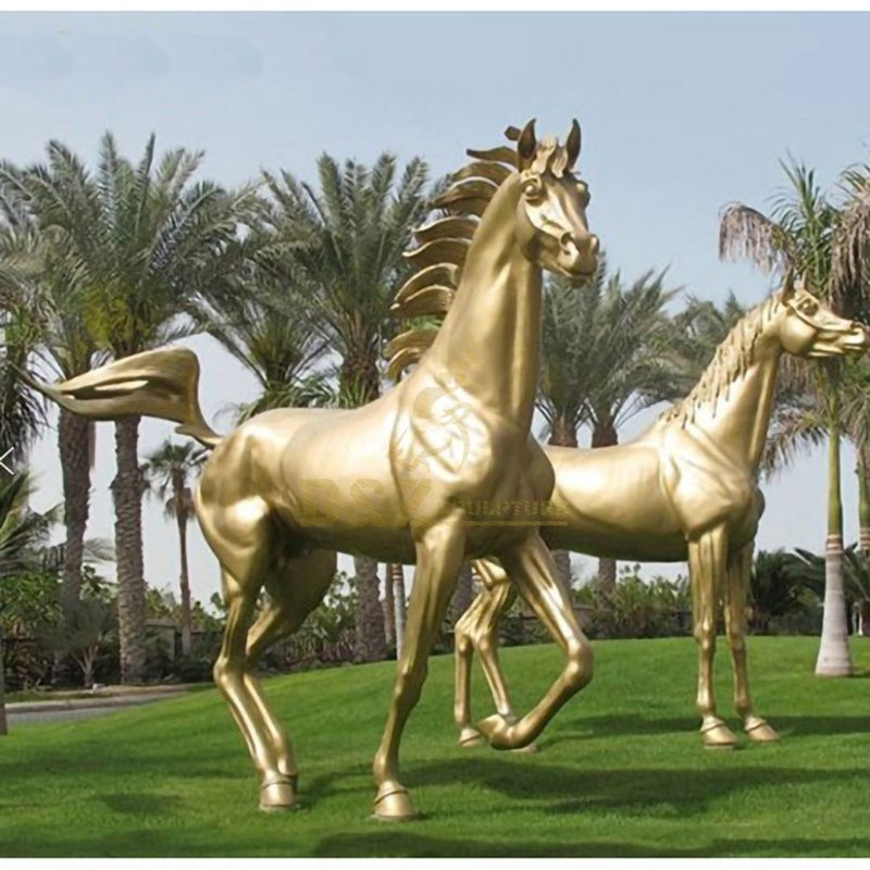 Yard Decoration Life Size Casting Bronze Slender Little Horse Sculpture
