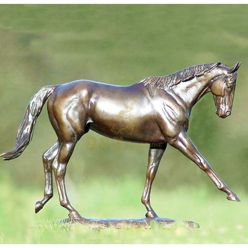Certificated Eastern Abstract Smooth Family Bronze Horse Sculpture