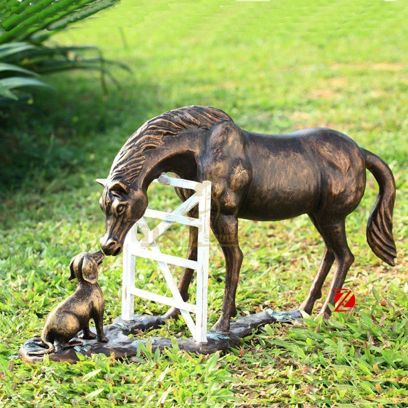 China factory garden bronze horse life size sculptrue