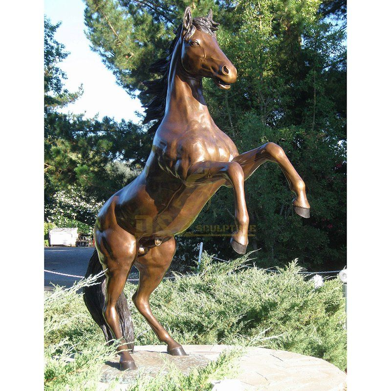 Outdoor Decoration Life Size Bronze Horse statue for sale