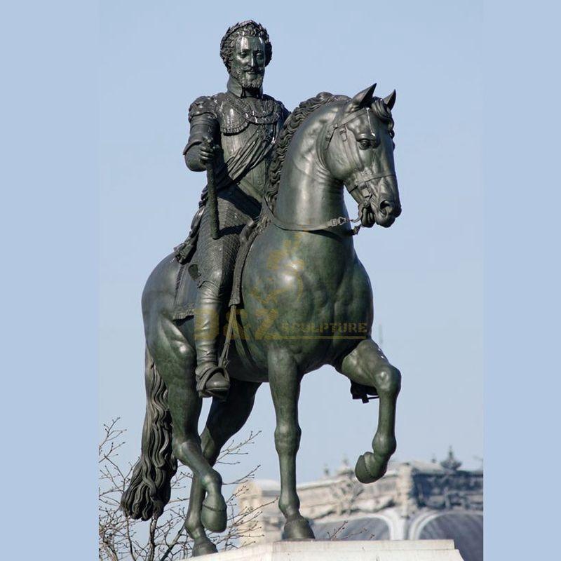Horse soldiers bronze casting statue sculpture