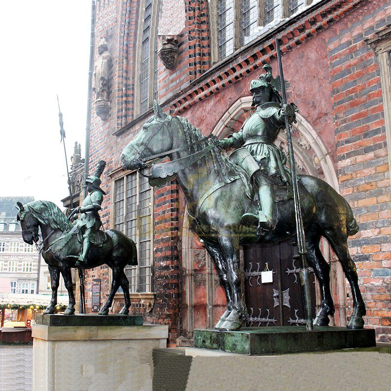 sculptures of horses