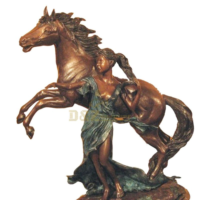 life size garden bronze running horse statue for sale