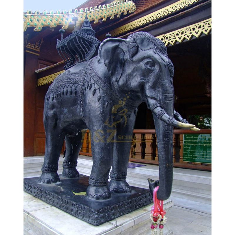 Indian Large Antique Outdoor Bronze Elephant Statues For Sale