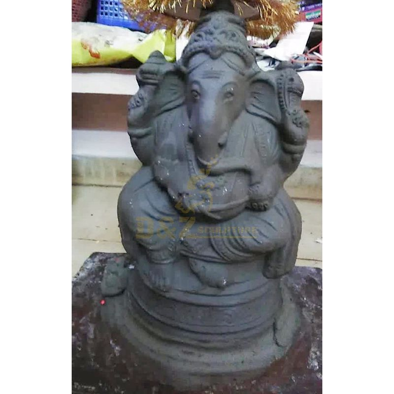 Ganesha Sculptures Buddhist Bronze Elephant Buddha Garden Statues