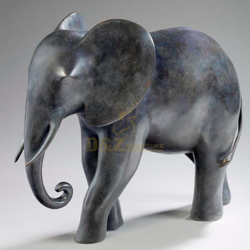 High quality water feature bronze large elephant statue for sale