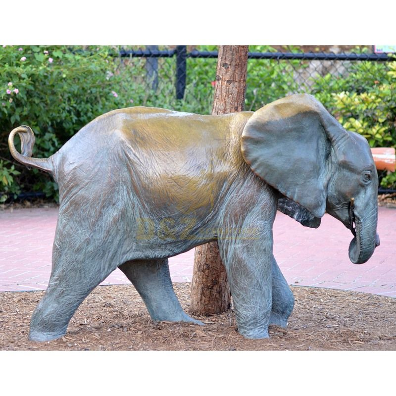 Life Size Casting Bronze Elephant Statue in Garden Decoration