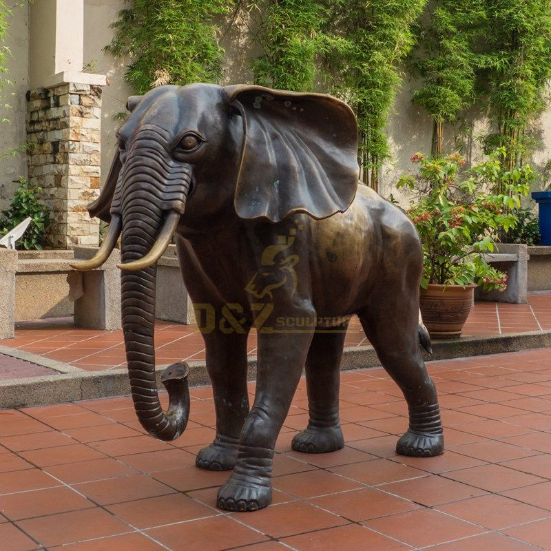 Outdoor Decorative Garden Bronze Elephant Statue