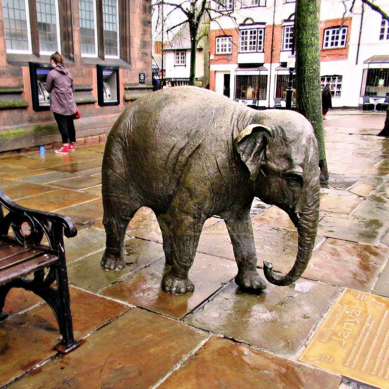 Outdoor Square cast garden animal sculpture elephant statue