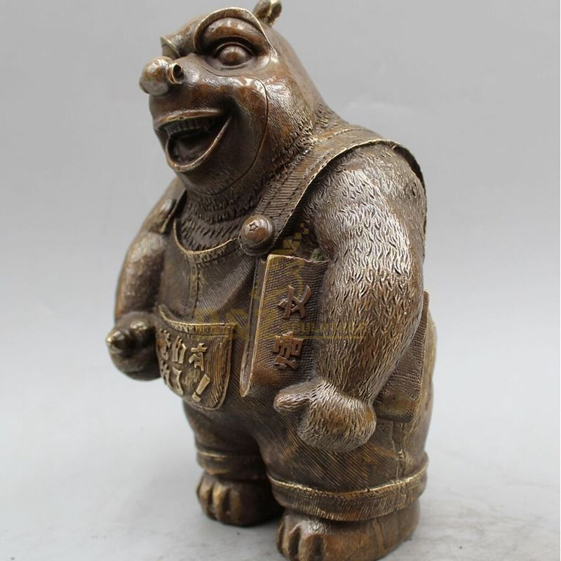 Cast Animal Bronze Wild Bear Sculpture For Sales