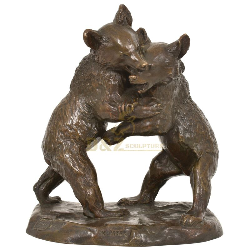 Factory cheap price brass bronze bear sculpture statue