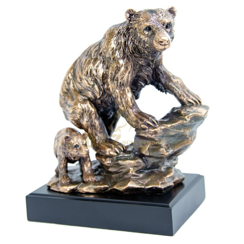 China manufacturer bronze grizzly bear sculpture