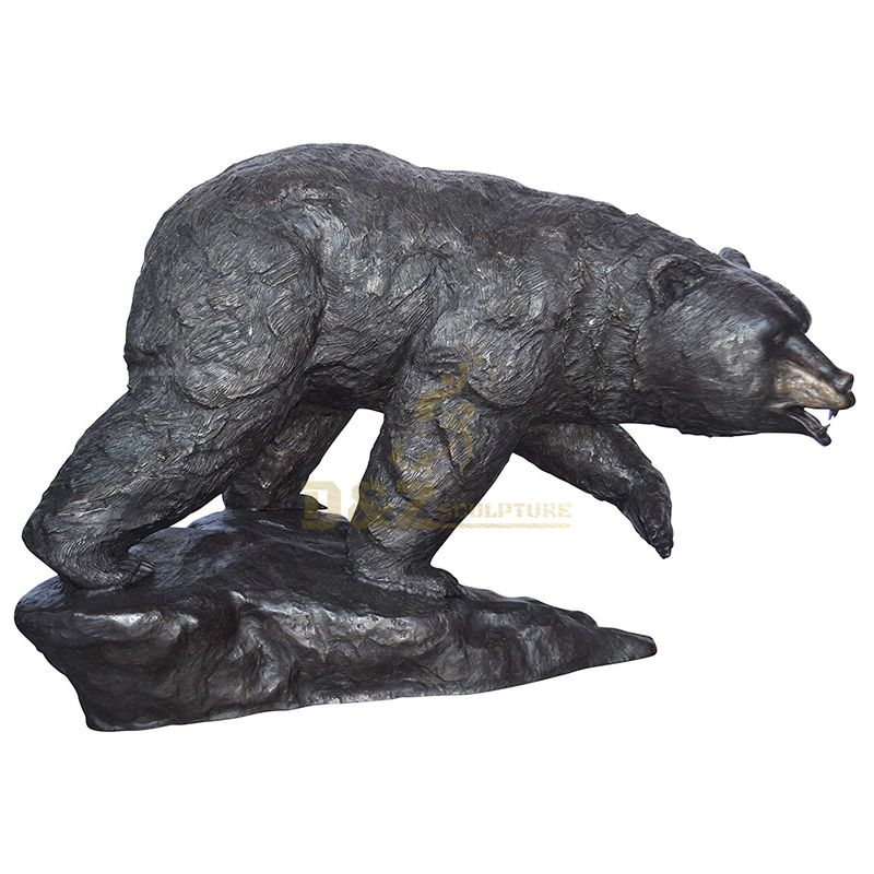 Outdoor Bronze Bear Animal Sculpture