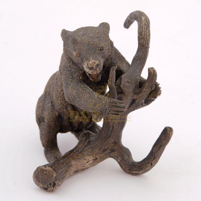 Popular Design Garden Decor Antique Statue Bronze Bear Sculpture
