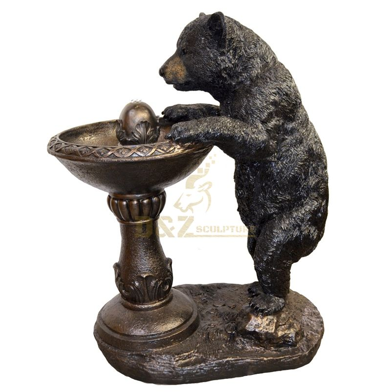 Life Size Water Fountains and Bear Bronze Animal Statue Sculpture
