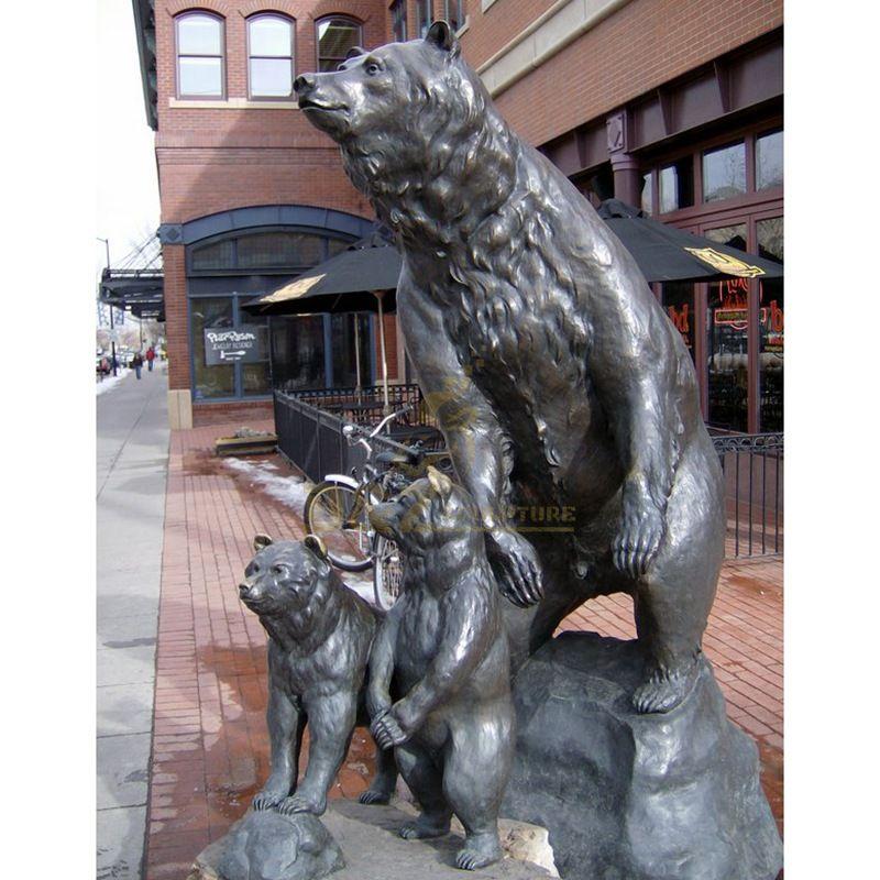 Custom abstract animal statue bronze bear statues