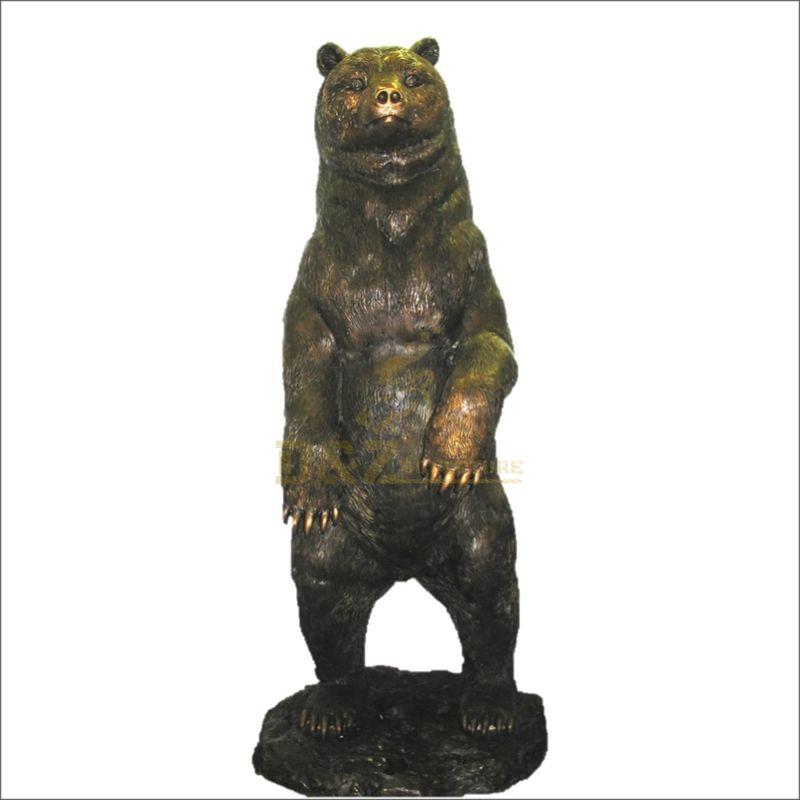 Hot sale high quality life size bronze black bear sculpture