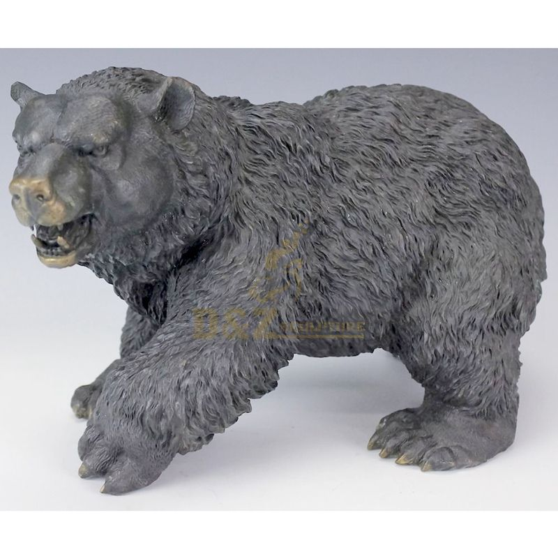 Large decorative outdoor bear statues bronze sculpture