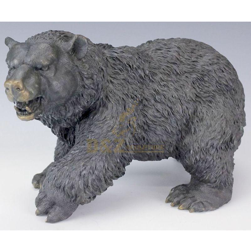 Large decorative outdoor bear statues bronze sculpture