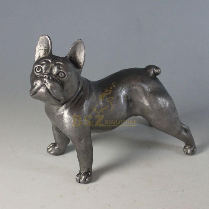 Home decoration bulldog copper dog sculpture