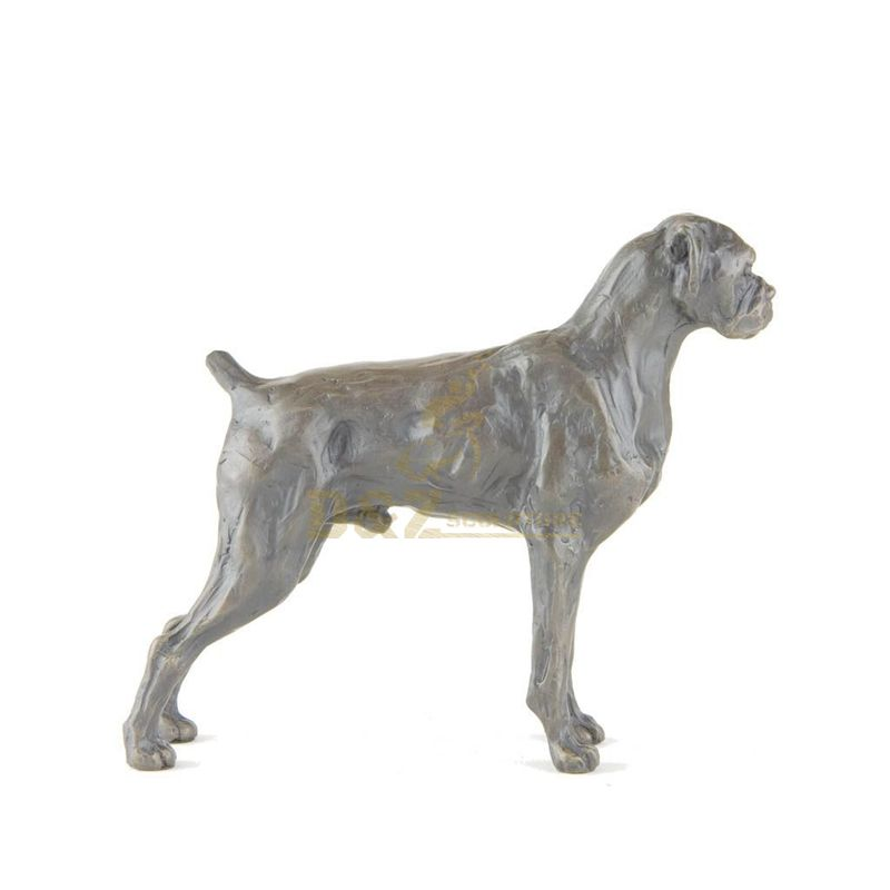 Hand carving antique bronze animal dog statue for home decoration