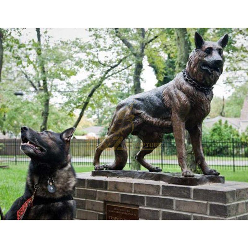 Manufactory Wholesale Bronze German dog Shepherd sculpture