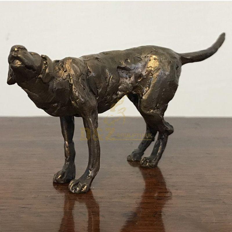 Outdoor home decor garden animal metal art craft cast bronze famous dog sculpture for sale