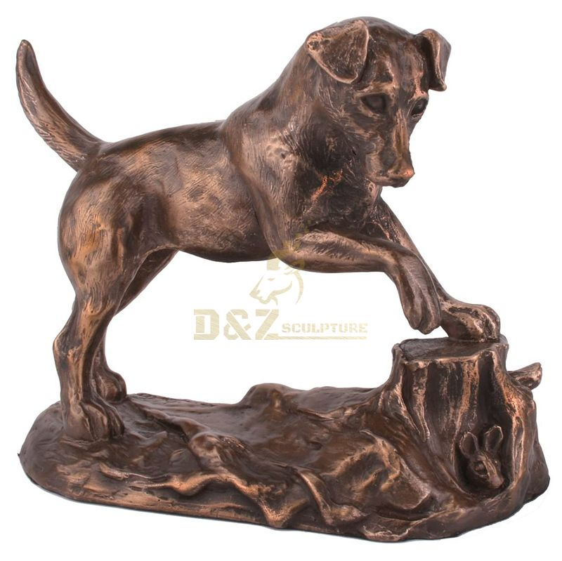 Cute Dog Outdoor Bronze Animal Sculpture