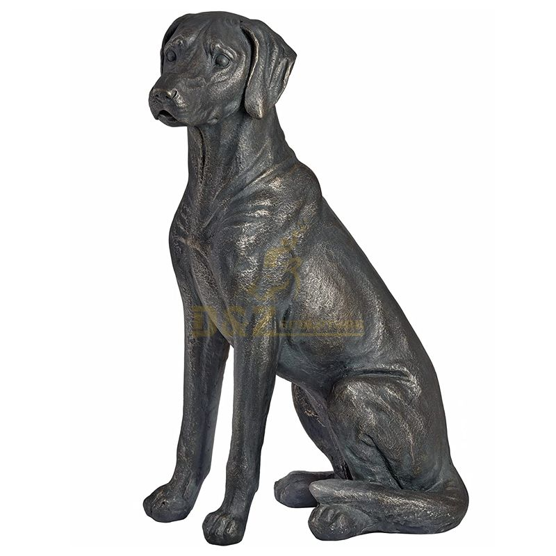 Life size Bronze Labrador Dog Sculpture