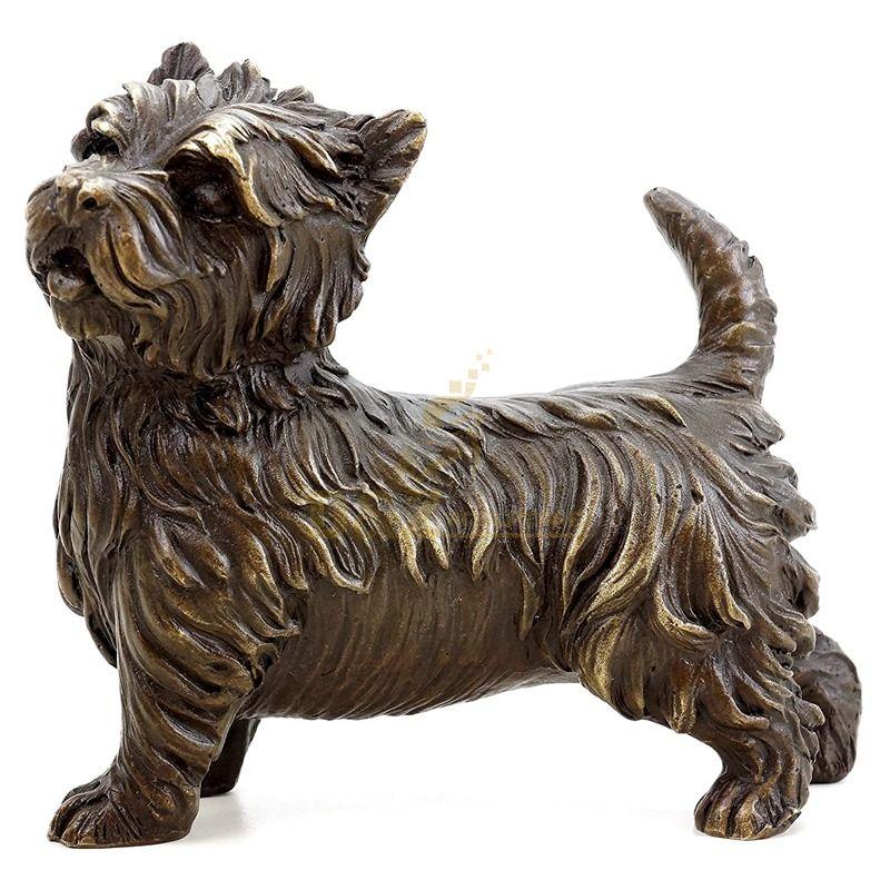 Large Antique Bronze Statue Modern Garden Dog Sculpture 0utside For Sale