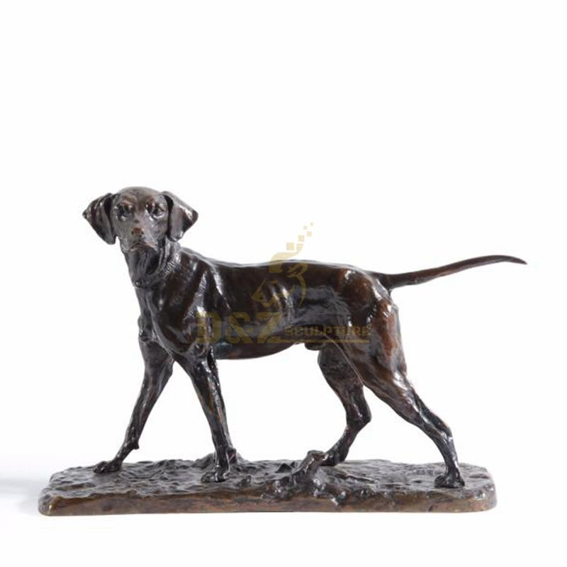 Hot sell Exquisite and lovely dogs moulding Animal artwork bronze indoor sculpture