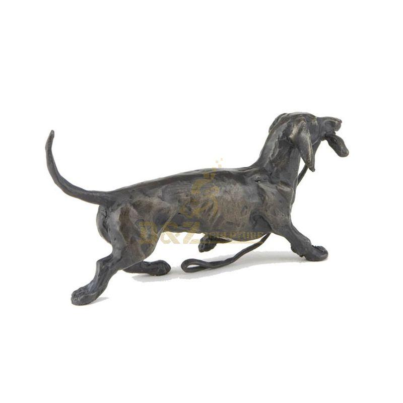Metal Modern Bronze Dog Sculpture