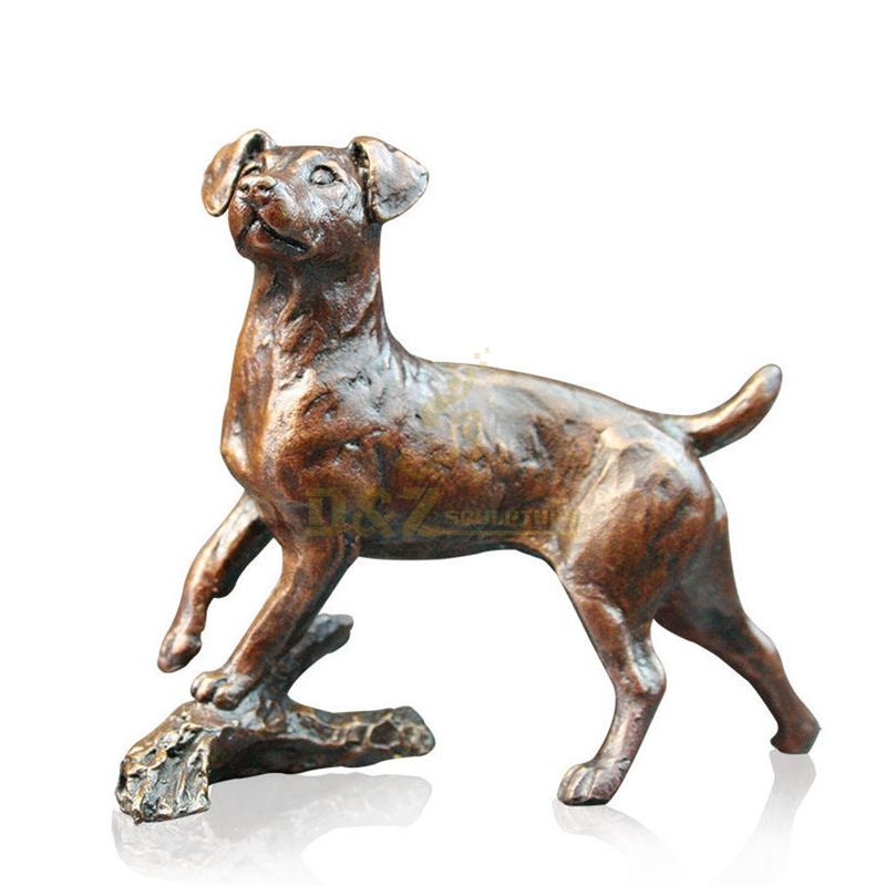 Bronze statue Life Size animal brass dog Sculpture for Decoration