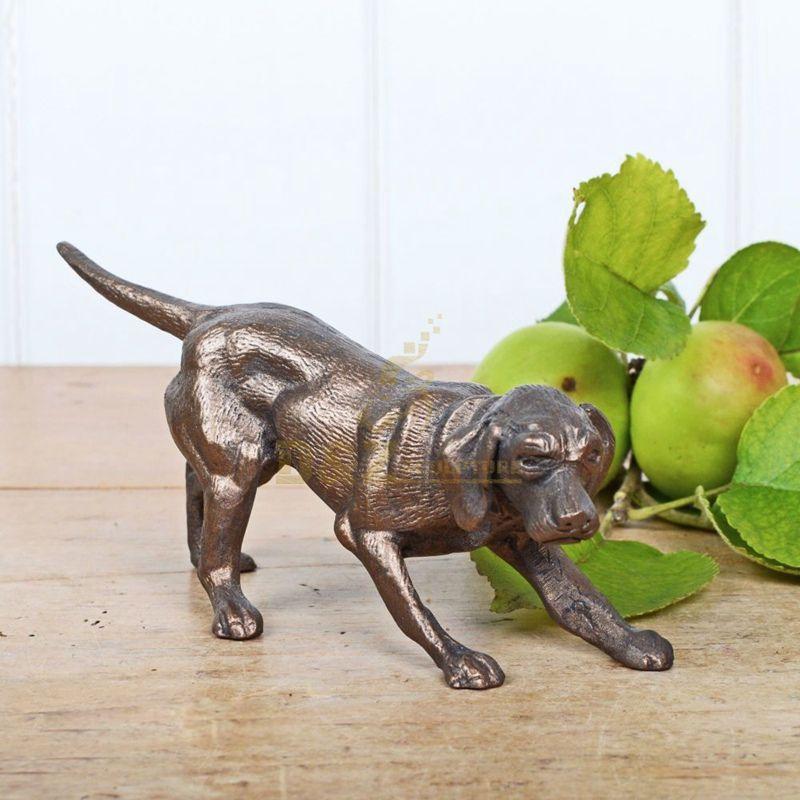 Large Outdoor Garden brass life size antique bronze dog statue sculpture