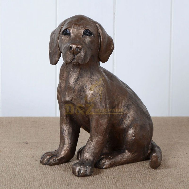 Popular animal statue ornament brass dog sculpture