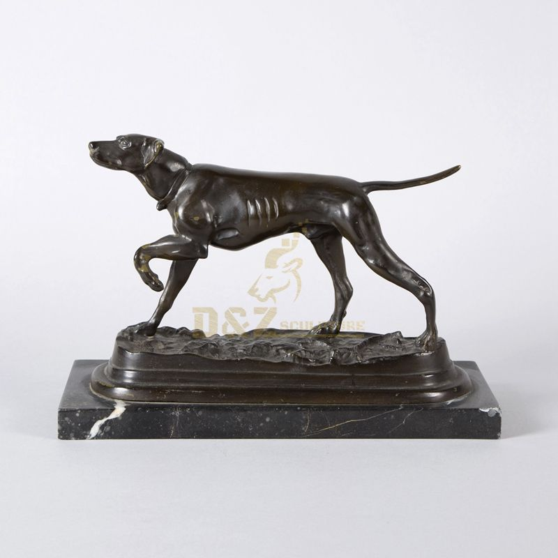 Hot Sale Home Decoration Small Brass Sculptures Brass Dog Statue