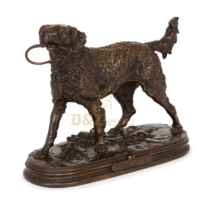 Home decor Metal Craft Bronze Dog Sculpture for sale