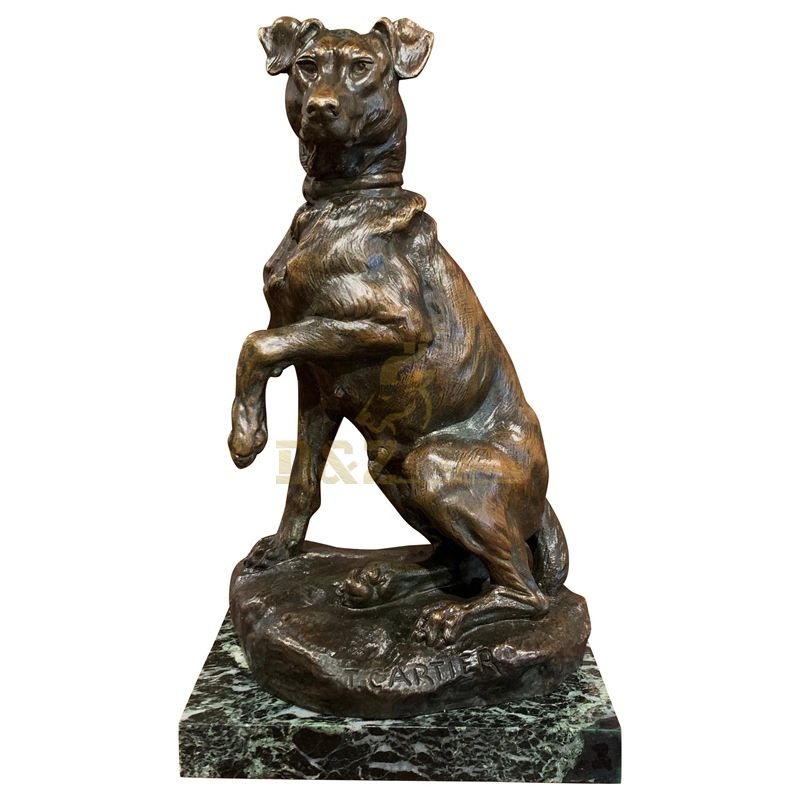 Hot Sale Decorative Bronze Animals Life Size Cast Brass Dog Sculpture