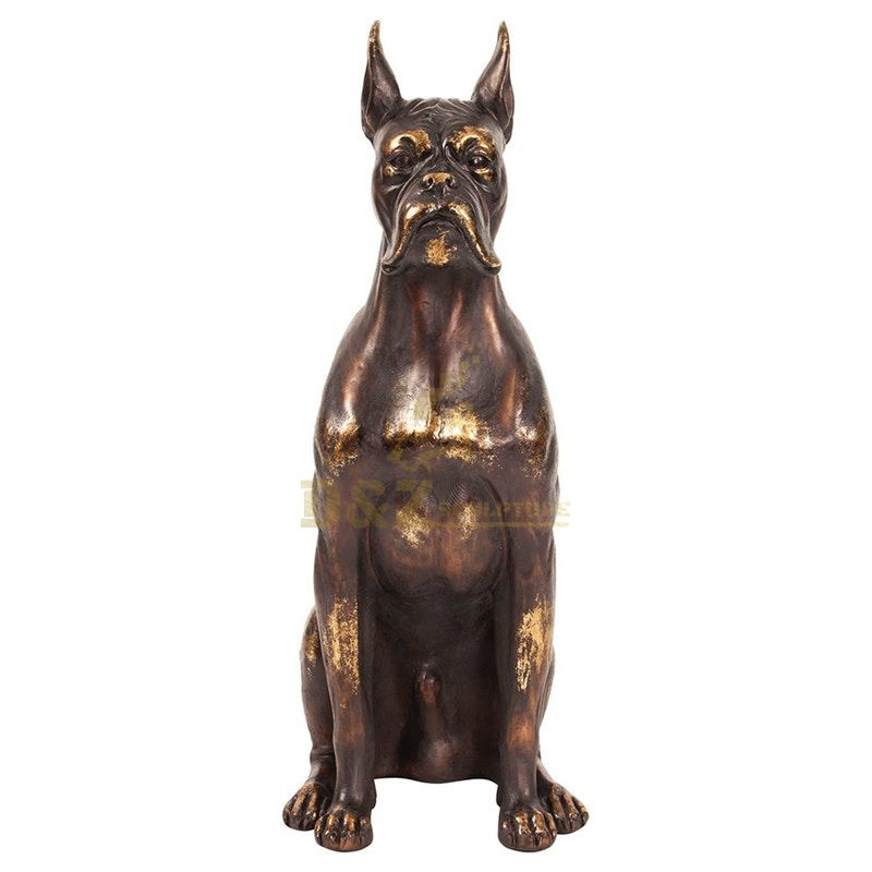 Metal cast bronze handicrafts dog pet sculpture for home decoration