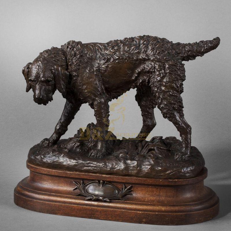 Outdoor Decorative Sculpture Modern Art Abstract Dog Bronze Statue