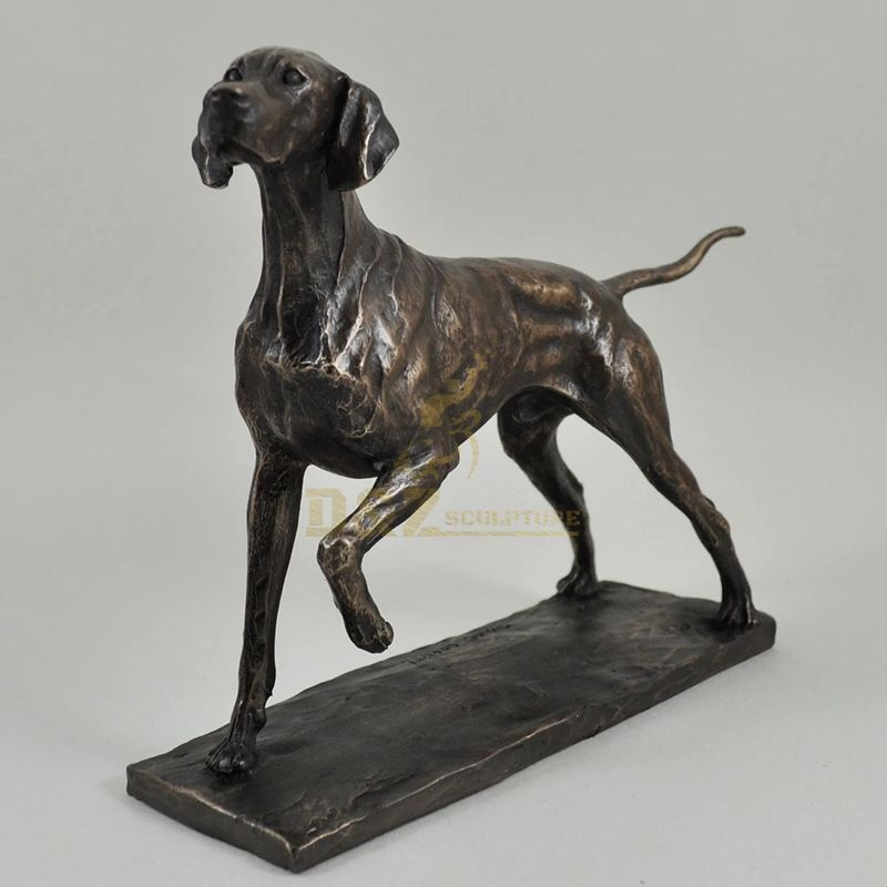 Small size Bronze dog sculpture for sale