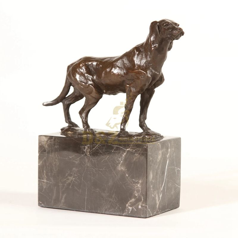 Famous casting life size bronze dog brass sculpture