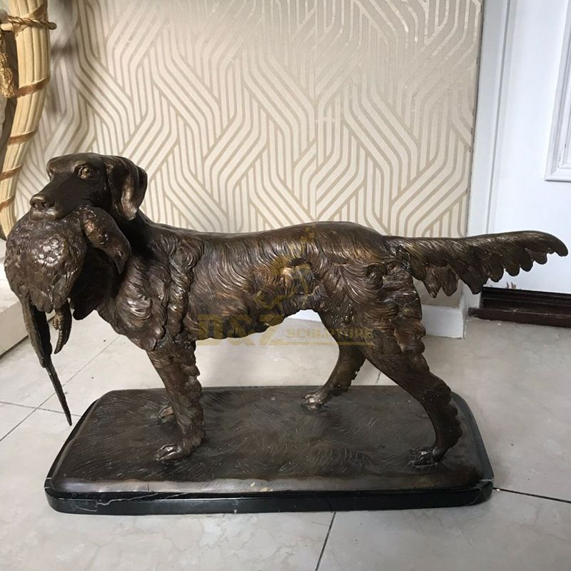 Wholesale cheap small bronze lucky dog statue home decor