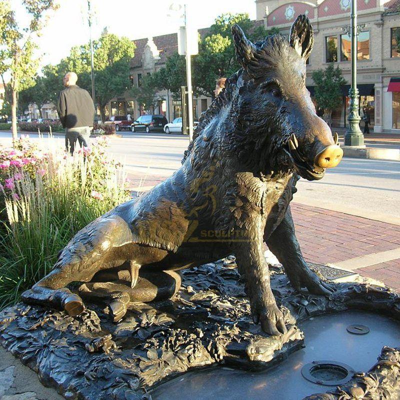 Hot Popular Bronze Wild Boar Large Sculpture For Garden