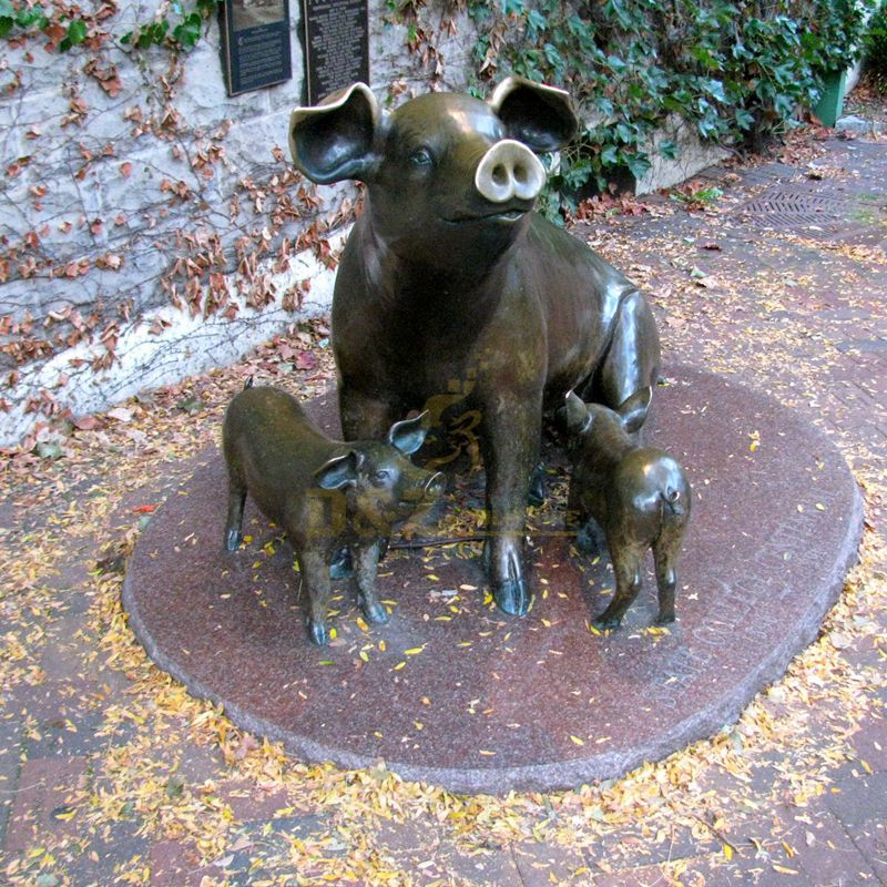 Outdoor Courtyard Decorations Metal Craft Bronze Wild Boar Sculpture