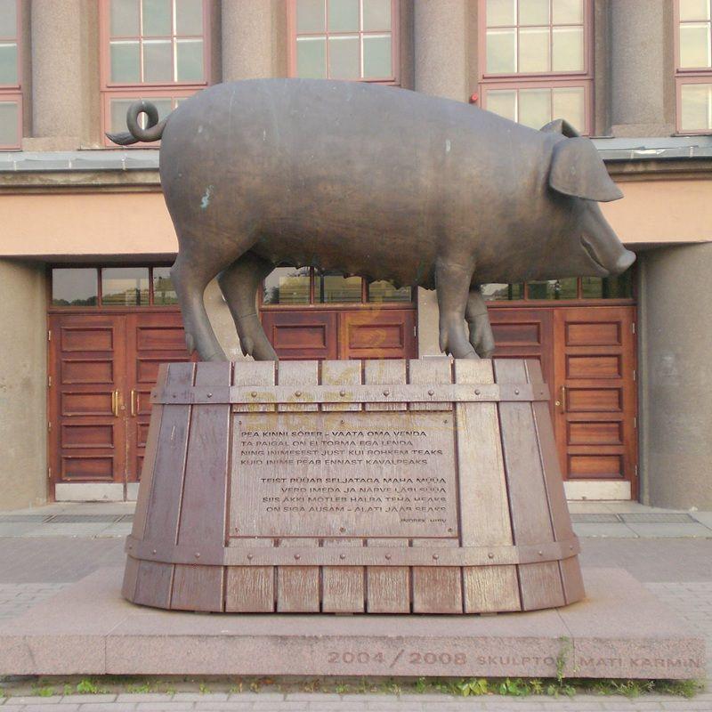Bronze Garden Statues Wild Boar Statue