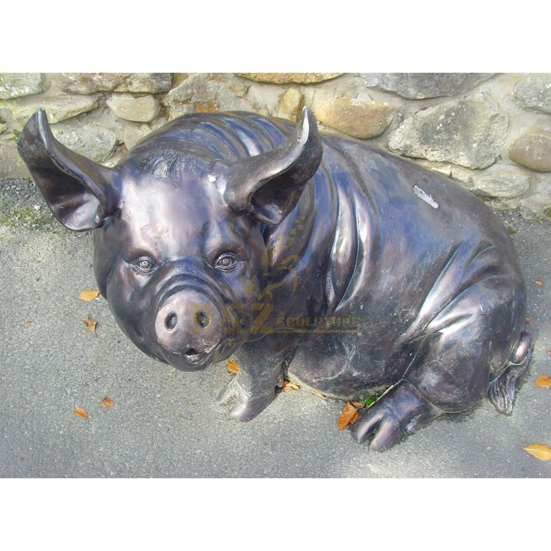 Bronze life size wild boar statue for garden decoration